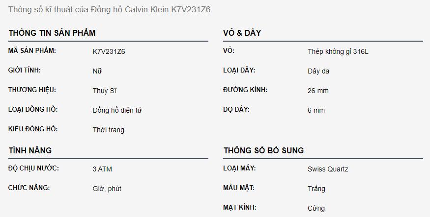 Calvin Klein K7V231Z6